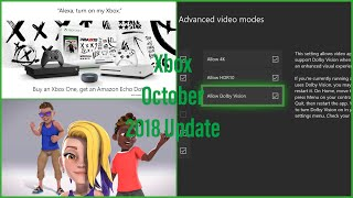 Xbox One October 2018 Update First Look
