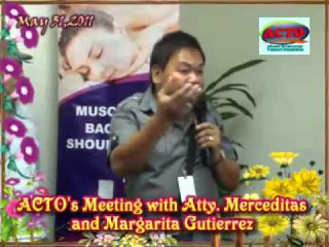 ORTIGAS - ACTO'S MEETING WITH MERCEDITAS AND MARGARITA GUTIERREZ