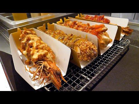 블랙타이거 쉬림프 핫도그 - 강남 / black tiger shrimp hot dog - korean street food