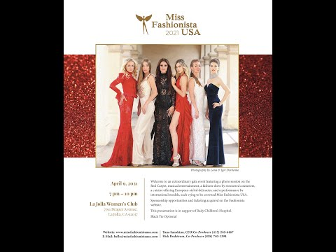Miss Fashionista  USA 2021 casting took place at the Pushkin restaurant in San Diego