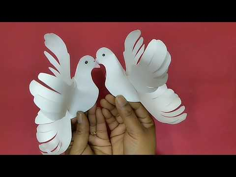 Paper Craft Pigeon Making Ideas / Craft Animals making / DIY Paper Bird Pigeon
