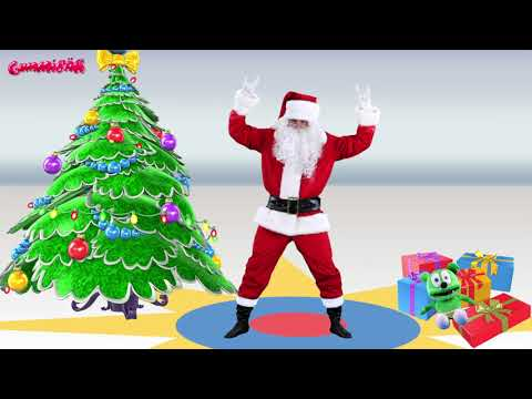 Santa Dancing To The Gummy Bear Song!  Ho Ho Ho! Merry Christmas!