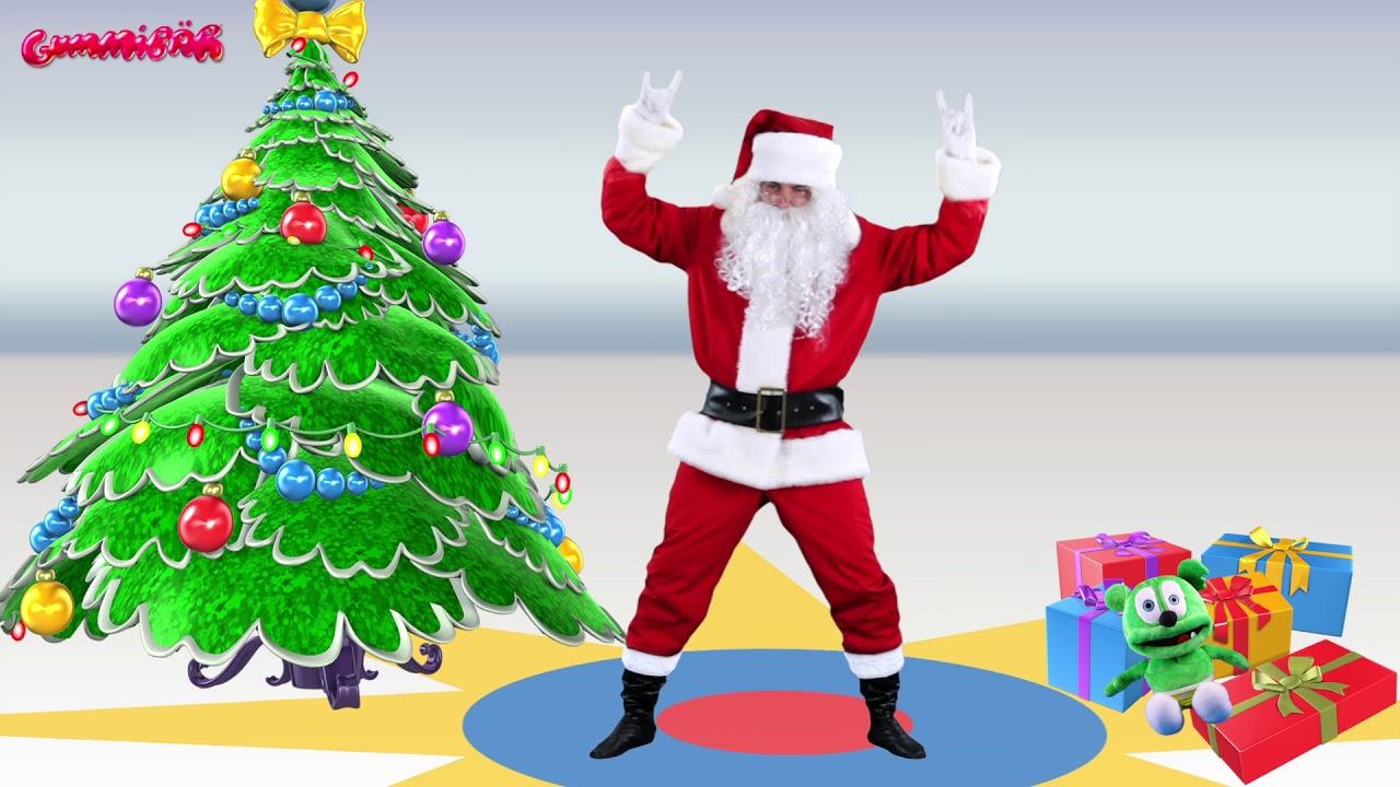 Ho Ho Ho Merry Christmas.Santa Dancing To The Gummy Bear Song Ho Ho Ho Merry Christmas