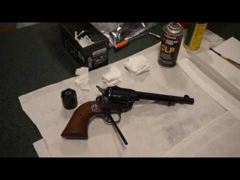 Ruger Single Six 22LR  Single Action Revolver Basic Cleaning.