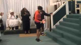 "7 Year Old Girl ""Praise Break"" Nothing can stop her Praise...."