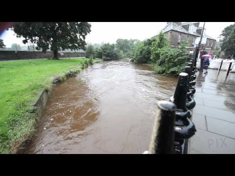 Edinburgh's Water of Leith flooding, 7.July.2012