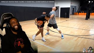 KENNY GOT PUNCHED LMFAO!! Things Got Heated! Trash Talking 1v1 Basketball Against Marcelas Howard!