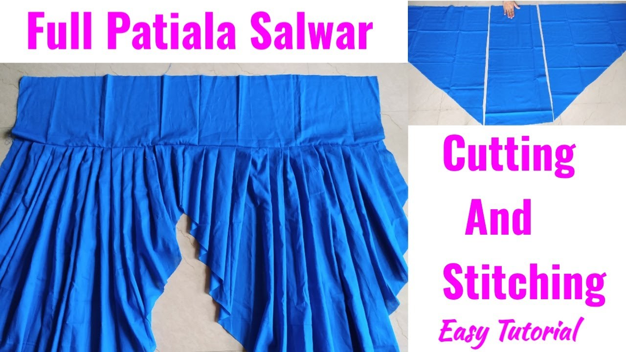 Full Patiala Salwar Cutting and Stitching|Heavy Patiala Salwar Cutting and Stitching|Salwar Cutting