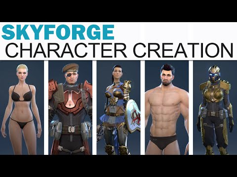 SkyForge - Full Character Creation (Male & Female, All Body Types, Options & Outfits!)