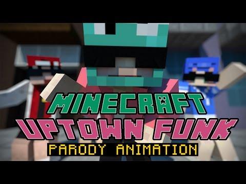 Minecraft Animation 'Uptown Funk' MV PARODY