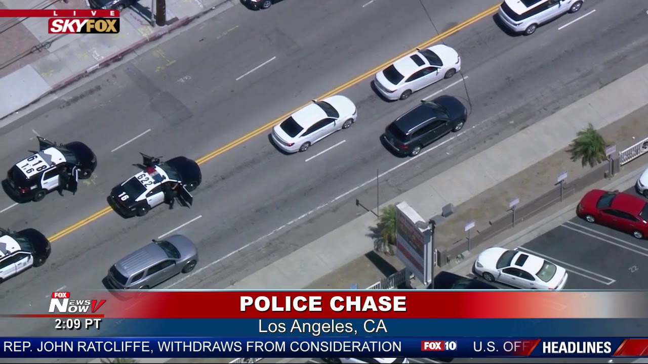 SLOW CHASE: Woman Goes VERY SLOW During Police Chase