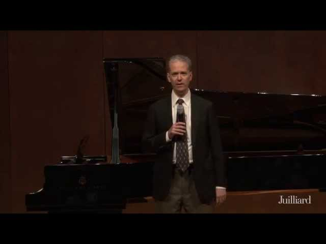 Gerald Finley Master Class, May 7, 2015: Introduction with Brian Zeger