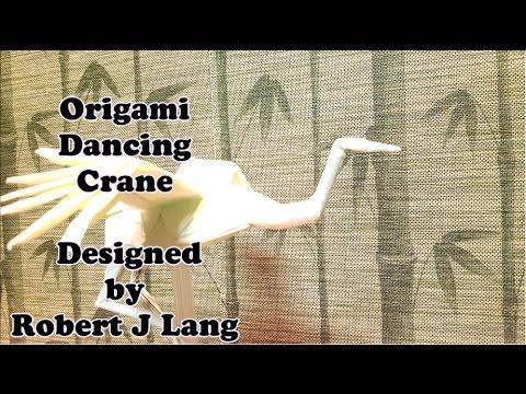 Origami Dancing Crane Tutorial ( Robert Lang )