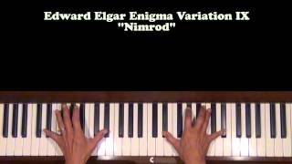 Edward Elgar Enigma Variation IX Nimrod Piano Tutorial