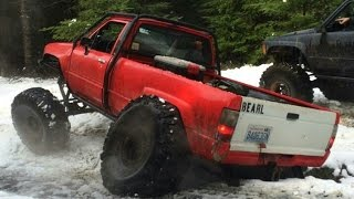 V8 Toyota on 42 Iroks on Browns Camp 7UP In The Snow