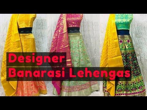 latest-lehenga-collections---2018-|-exquisite-banarasi-lehenga-with-blouse-designs