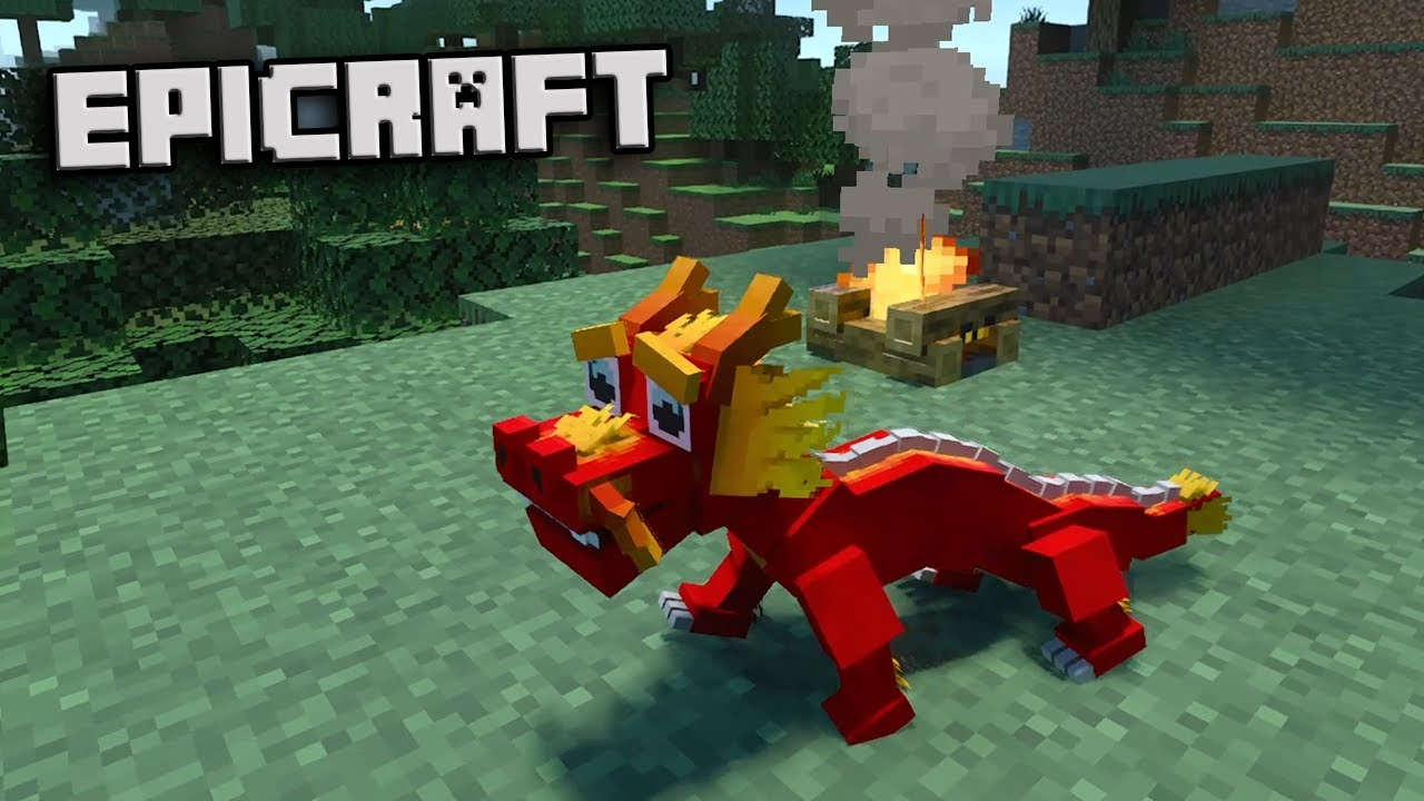 CONSIGO MI PRIMER DRAGON !! - Minecraft Epicraft #5