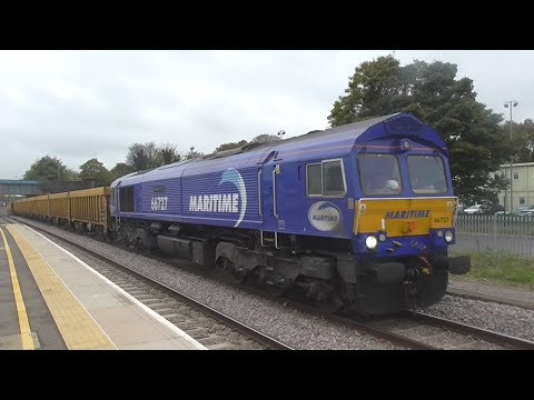 Freight Trains @ Peterborough Railway Station - 22nd October 2017