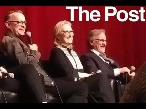 THE POST talk with Steven Spielberg, Meryl Streep, Tom Hanks & crew - November 27, 2017