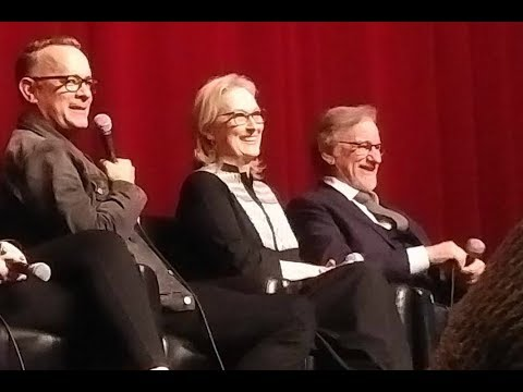 THE POST talk with Meryl Streep, Tom Hanks, Steven Spielberg & crew  November 27, 2017