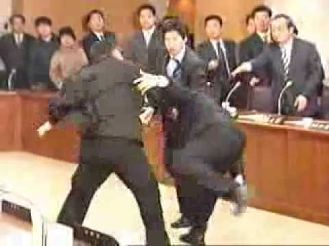 Politician - Judo Fight In Parlament