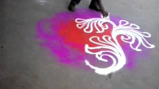 Rangoli painting artist ganesh potdar.mp4
