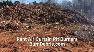 burndebris com air curtain burner rentals