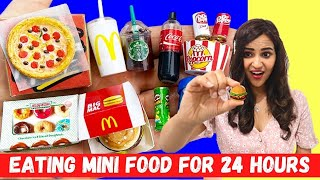 Eating MINI FOODS for 24 HOURS *SATISFYING*