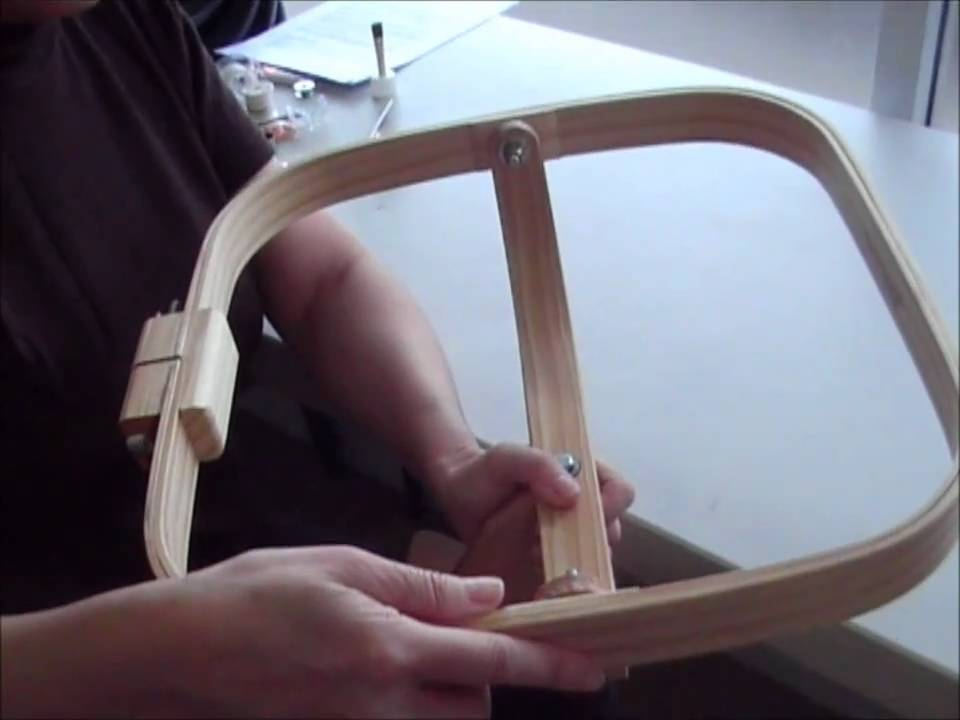 hand quilting hoops / frames by thimblelady - YouTube : grace quilting hoop - Adamdwight.com