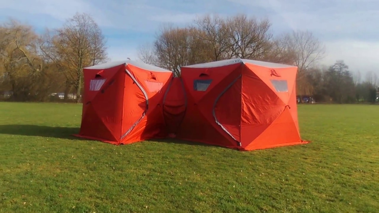 Qube Tents - Modular Tents Fly over & Qube Tents - Modular Tents Fly over - YouTube