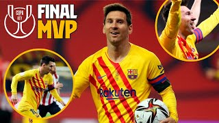 Best of Leo Messi vs Athletic Club (MVP Copa del Rey final 2021)