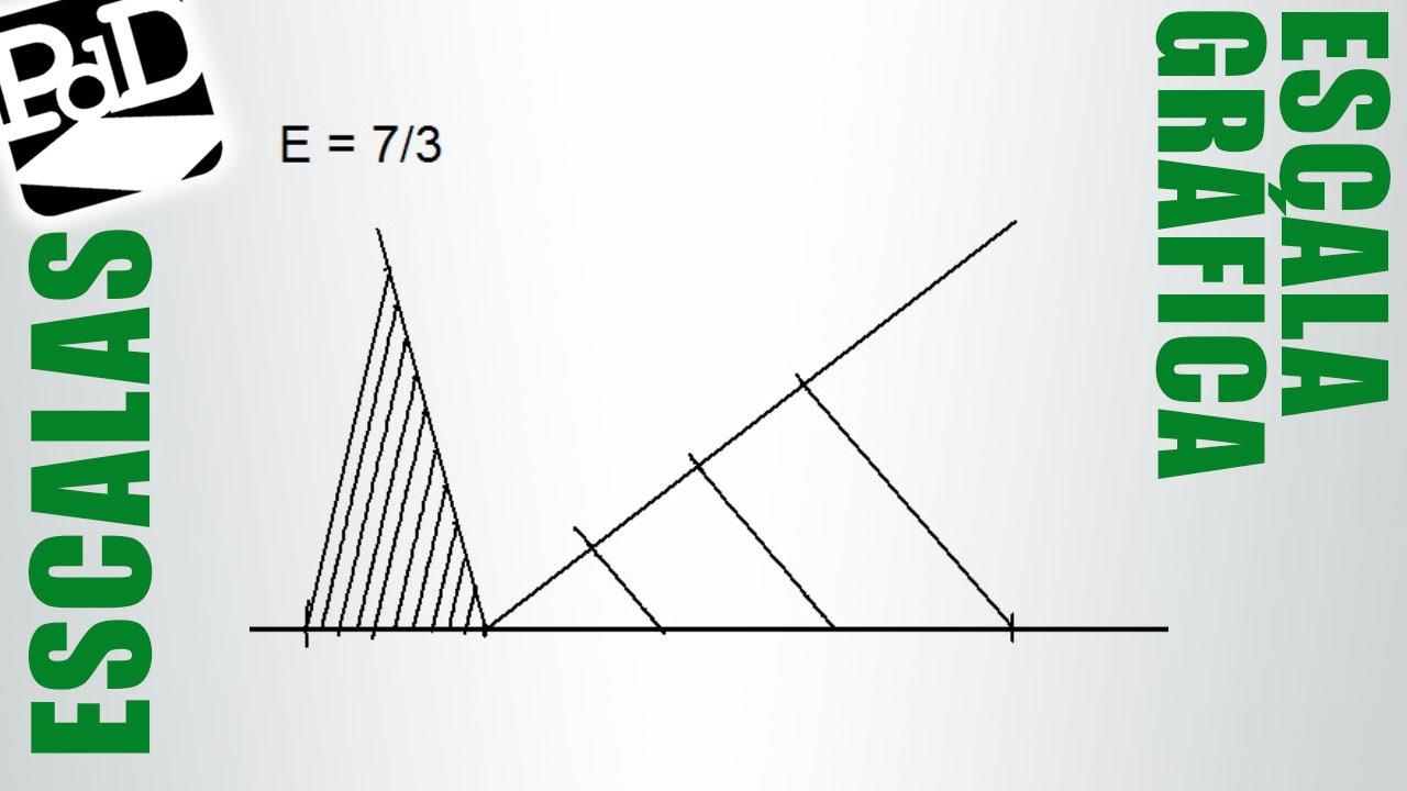 Trazar una escala grfica Reduccin o ampliacin Dibujo Tcnico