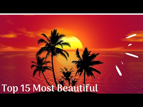 The Top 15 Most Beautiful Sunsets