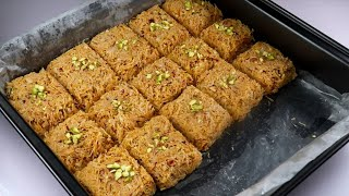 10 minutes Dessert Recipe,Seviyan ki mithai,Semai barfi By Recipes of the World