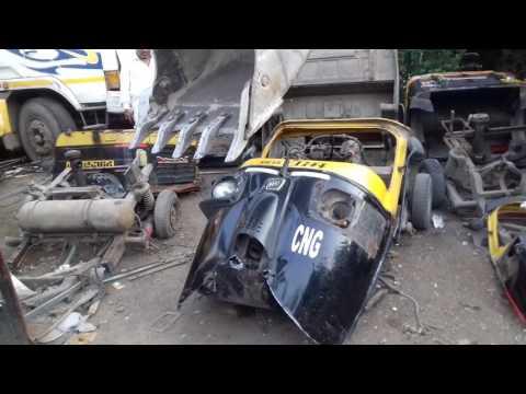 20161020 164941 Auto Rickshaw Scrap at Dy  RTO Navi Mumbai