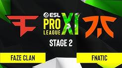 CS:GO - FaZe Clan vs. Fnatic [Inferno] Map 3 - ESL Pro League Season 11 - Stage 2
