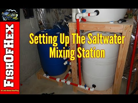 Saltwater Mixing Station | Fish Room Setup Part 2