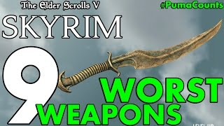 Top 9 Worst Swords, Bows and other Weapons in Elder Scrolls Skyrim Remastered #PumaCounts