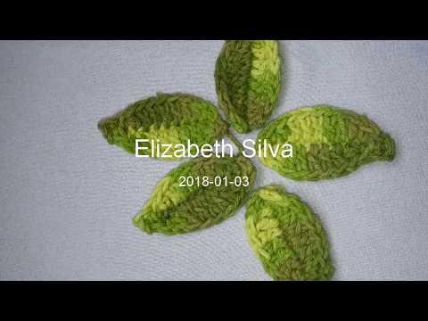 Folha de crochê simples para aplicação fácil -com Elizabeth Silva