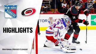 NHL Highlights | Rangers @ Hurricanes 2/21/20