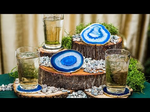 DIY Agate Coasters - Home & Family