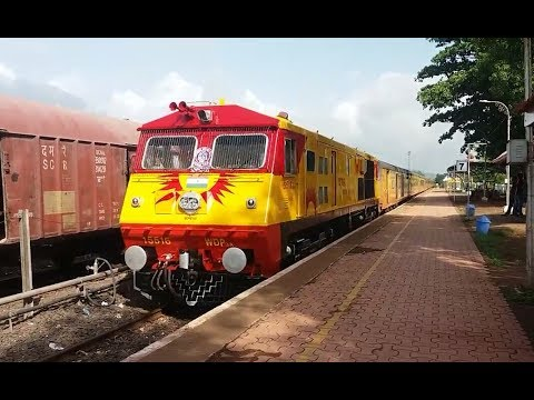 TEJAS EXPRESS WITH WDP-3A !!! 22119 Mumbai - Karmali Tejas Express with Matching Locomotive