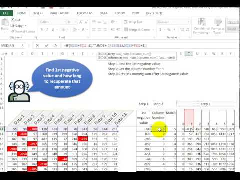 Video 00094 Find 1st negative value and how long to recuperate amount