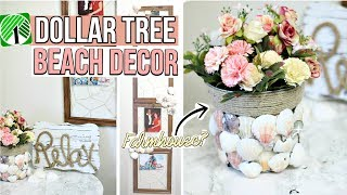 DOLLAR TREE DIY BEACH DECOR | COASTAL FARMHOUSE DOLLAR STORE DIYS!  Sensational Finds