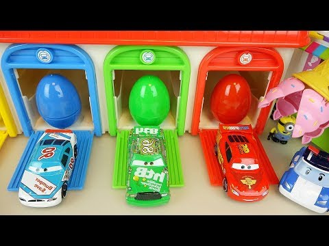 Thumbnail: Cars and Poli car toys with surprise eggs play