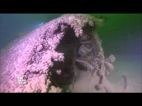 Lost history treasures revealed as waters recede in Nevada