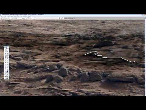 Buried Vehicle/Anomalies in Gale crater, Mars