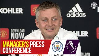 Manager's Press Conference | <b>Manchester City v Manchester United</b> ...