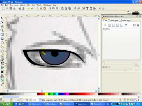 Anime Style Eye Creating With Inkscape Youtube