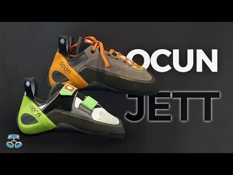 91fb451c4355 Ocun Jett climbing shoes - Velcro   Lace - 2019 - YouTube